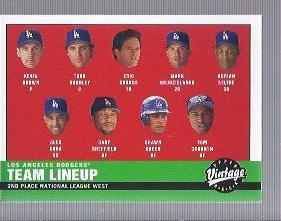 2001 Upper Deck Vintage #241 Los Angeles Dodgers CL