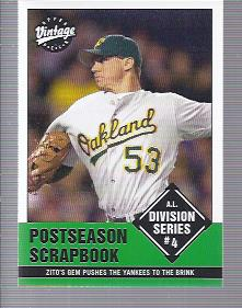2001 Upper Deck Vintage #374 Barry Zito SH