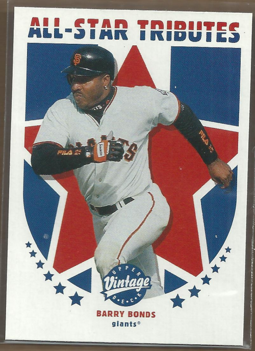2001 Upper Deck Vintage All-Star Tributes #AS8 Barry Bonds