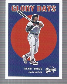 2001 Upper Deck Vintage Glory Days #G8 Barry Bonds