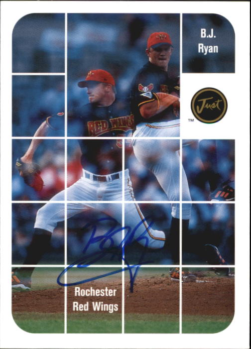 2001 Just Stuff Autographs #BA41 B.J. Ryan