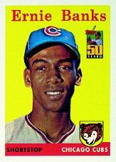 2001 Cubs Topps 50th Anniversary #1 Ernie Banks 58