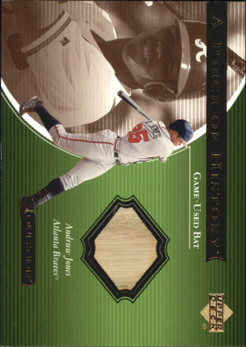 2001 Upper Deck Ovation A Piece of History #AJ Andruw Jones