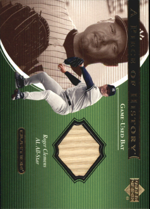 2001 Upper Deck Ovation A Piece of History #RC Roger Clemens