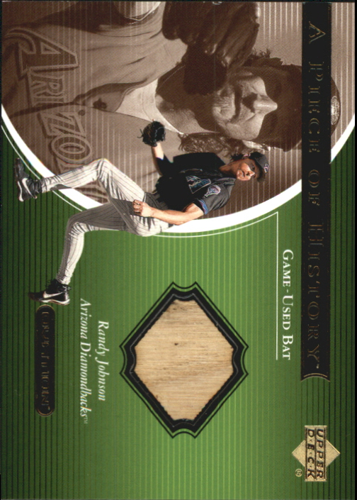 2001 Upper Deck Ovation A Piece of History #RJ Randy Johnson