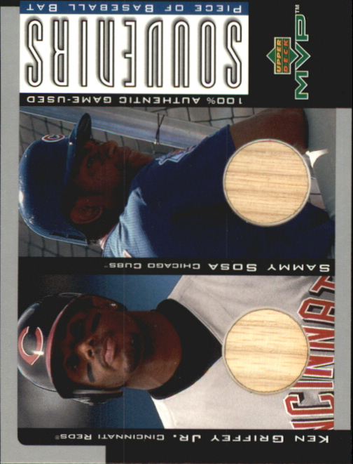 2001 Upper Deck MVP Game Souvenirs Bat Duos #BGS Ken Griffey Jr./Sammy Sosa