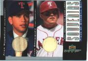 2001 Upper Deck MVP Game Souvenirs Bat Duos #BRR Alex Rodriguez/Ivan Rodriguez
