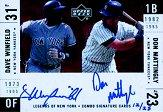 2001 Upper Deck Legends of NY Combo Autographs #SWM Dave Winfield/Don Mattingly