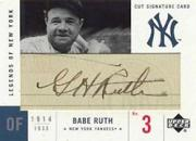 2001 Upper Deck Legends of NY Cut Signatures #LCBR Babe Ruth/5