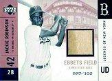 2001 Upper Deck Legends of NY Game Base #EFJR Jackie Robinson