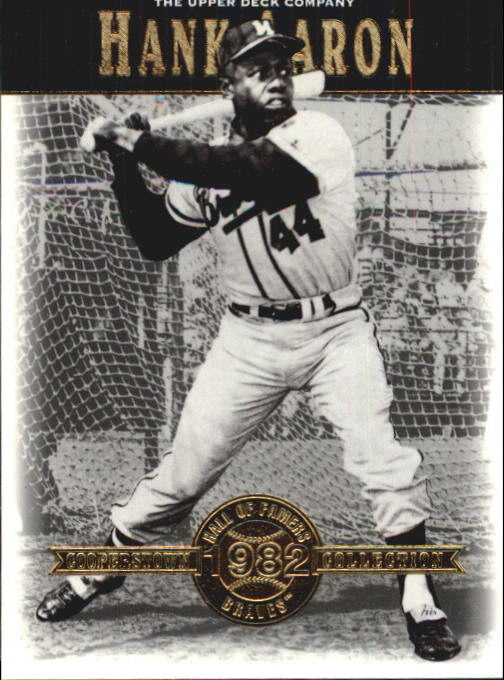 2001 Upper Deck Hall of Famers #2 Hank Aaron front image