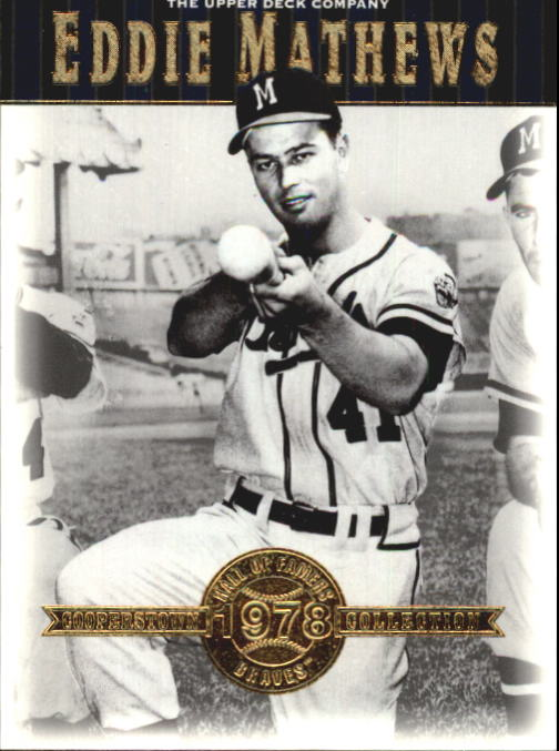 2001 Upper Deck Hall of Famers #3 Eddie Mathews front image