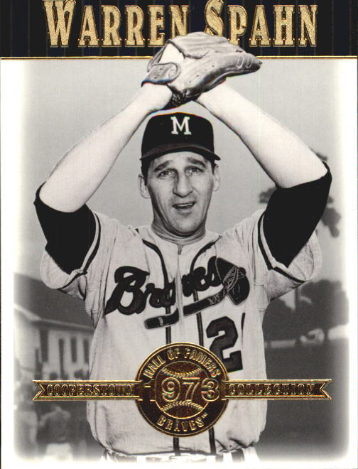2001 Upper Deck Hall of Famers #4 Warren Spahn front image