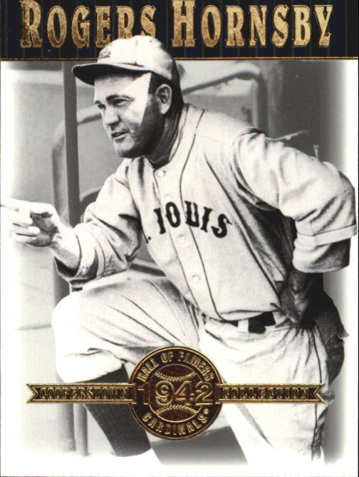2001 Upper Deck Hall of Famers #11 Rogers Hornsby front image
