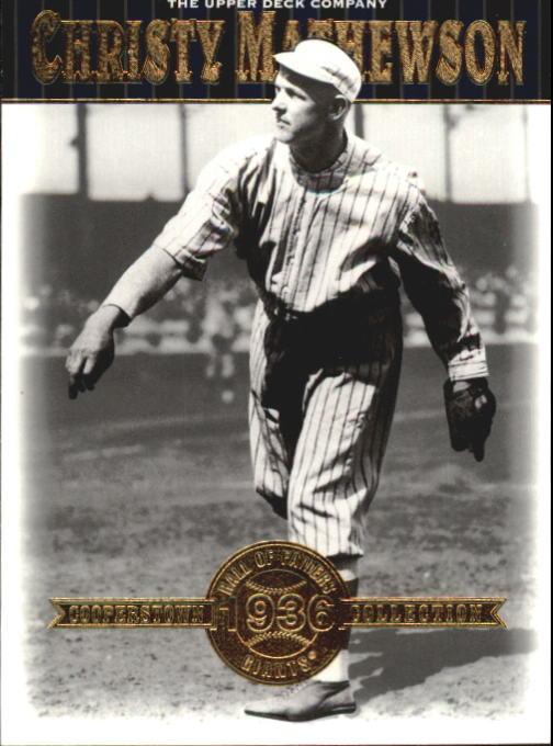 2001 Upper Deck Hall of Famers #18 Christy Mathewson front image