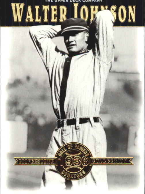 2001 Upper Deck Hall of Famers #39 Walter Johnson