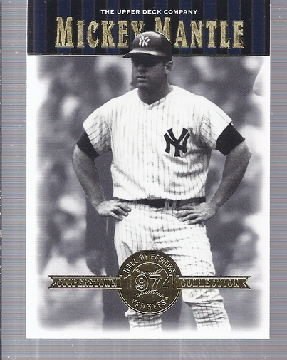 2001 Upper Deck Hall of Famers #49 Mickey Mantle front image