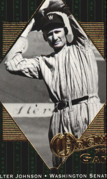 2001 Upper Deck Hall of Famers #55 Walter Johnson OG