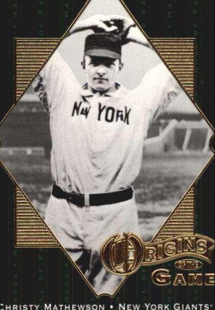2001 Upper Deck Hall of Famers #58 Christy Mathewson OG