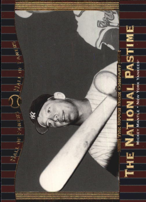 2001 Upper Deck Hall of Famers #61 Mickey Mantle NP front image