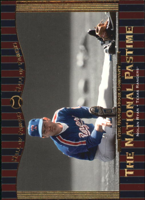 2001 Upper Deck Hall of Famers #63 Nolan Ryan NP