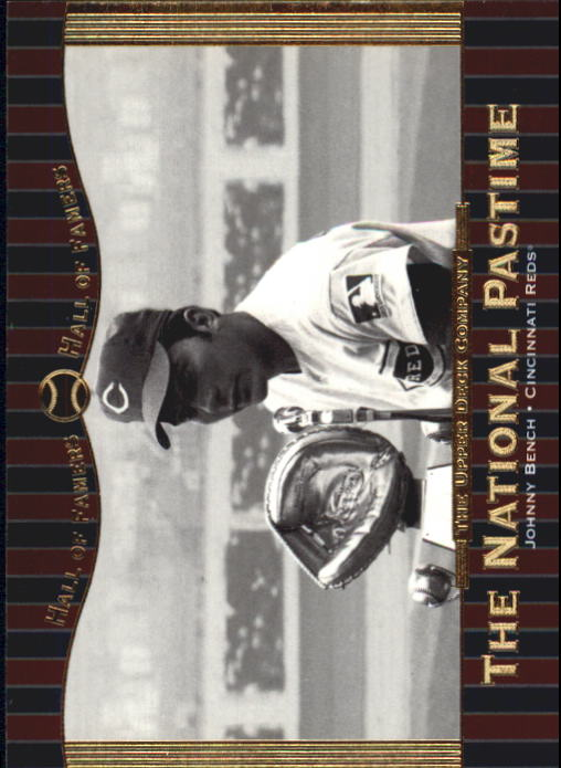 2001 Upper Deck Hall of Famers #72 Johnny Bench NP