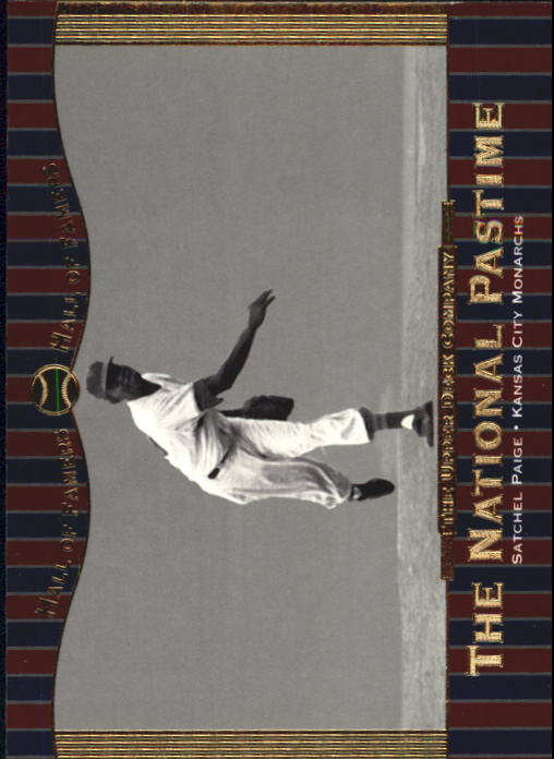 2001 Upper Deck Hall of Famers #74 Satchel Paige NP