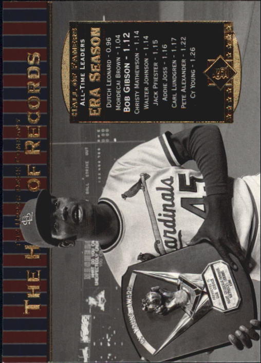 2001 Upper Deck Hall of Famers #81 Bob Gibson HR