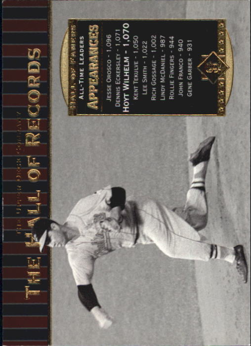 2001 Upper Deck Hall of Famers #88 Hoyt Wilhelm HR front image
