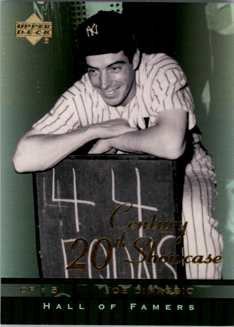 2001 Upper Deck Hall of Famers 20th Century Showcase #S2 Joe DiMaggio