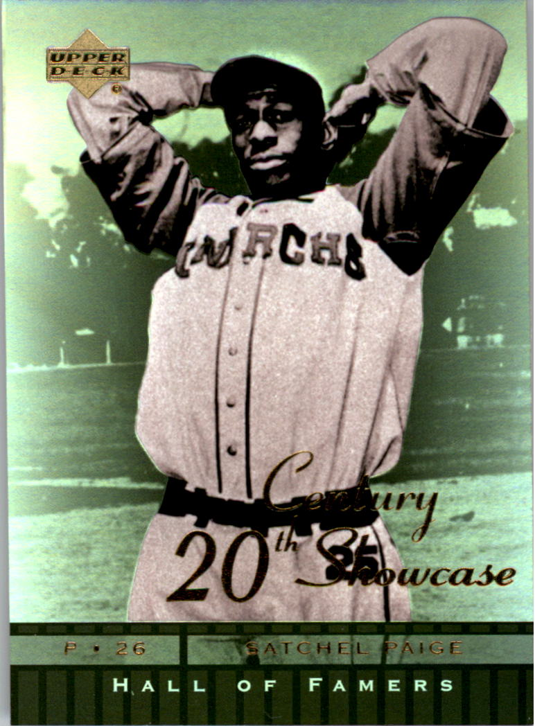2001 Upper Deck Hall of Famers 20th Century Showcase #S6 Satchel Paige front image