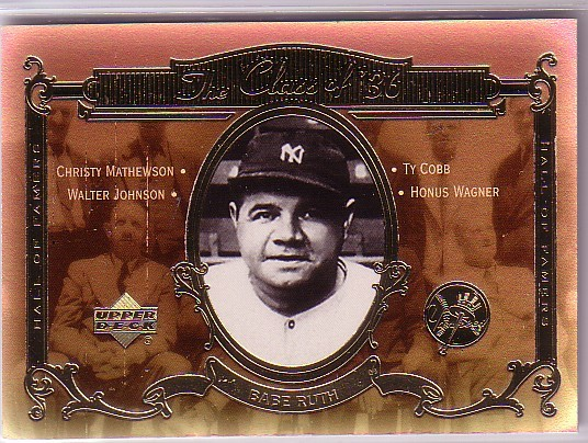 2001 Upper Deck Hall of Famers Class of '36 #C2 Babe Ruth