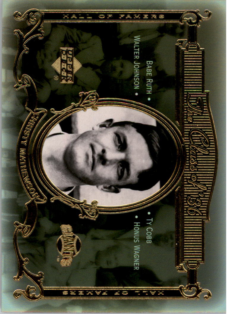 2001 Upper Deck Hall of Famers Class of '36 #C3 Christy Mathewson front image