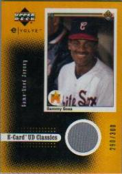 2001 Upper Deck Evolution e-Card Classics Game Jersey #ECJ4 Sammy Sosa