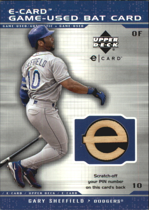 2001 Upper Deck Evolution e-Card Game Bat #BGS Gary Sheffield