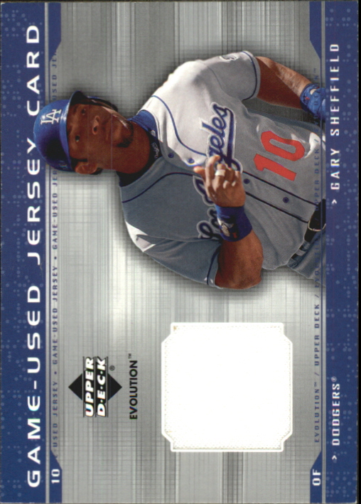 2001 Upper Deck Evolution Game Jersey #JGS Gary Sheffield