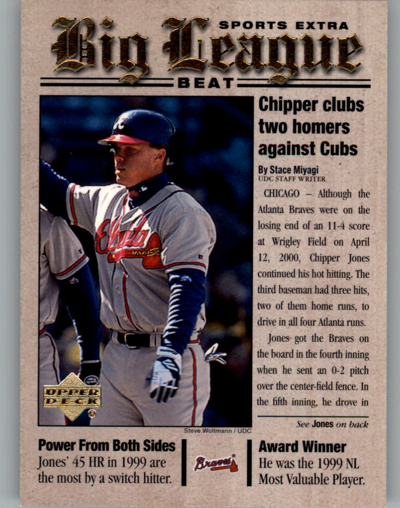 2001 Upper Deck Big League Beat #BB5 Chipper Jones