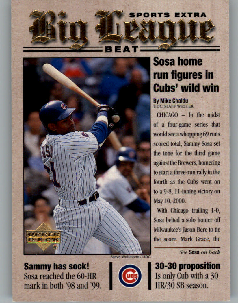 2001 Upper Deck Big League Beat #BB7 Sammy Sosa