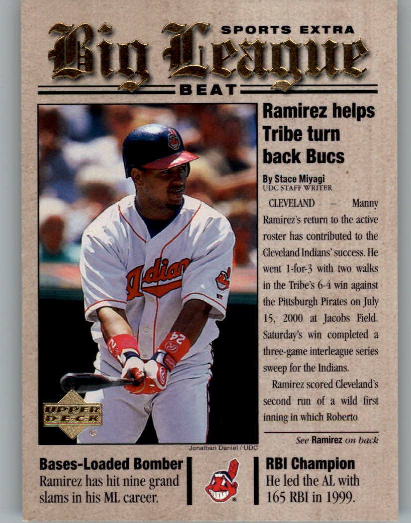 2001 Upper Deck Big League Beat #BB11 Manny Ramirez