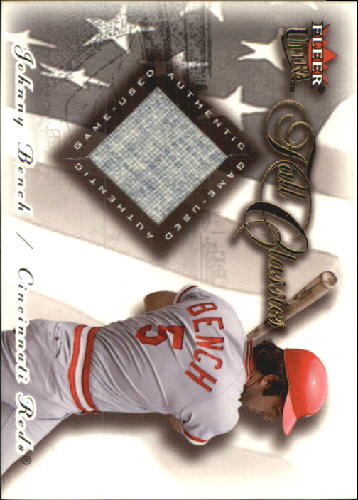 2001 Ultra Fall Classics Memorabilia #2 Johnny Bench Jsy