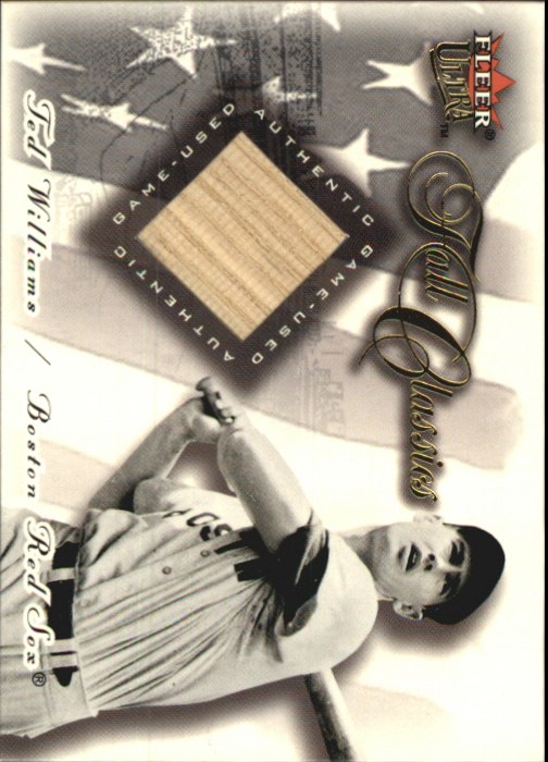 2001 Ultra Fall Classics Memorabilia #26 Ted Williams Bat