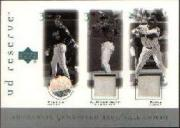 2001 UD Reserve Ball-Base Trios #PRS Mike Piazza/Alex Rodriguez/Sammy Sosa