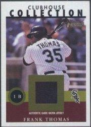 2001 Topps Heritage Clubhouse Collection #FT Frank Thomas Jsy