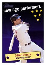 2001 Topps Heritage New Age Performers #NAP1 Mike Piazza