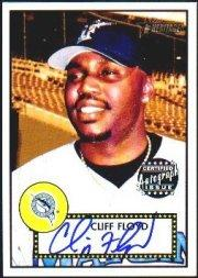 2001 Topps Heritage Autographs #THACF Cliff Floyd