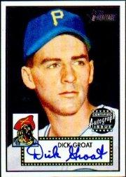 2001 Topps Heritage Autographs #THADG Dick Groat