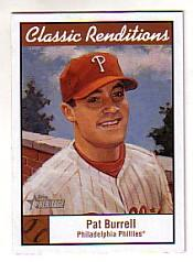 2001 Topps Heritage Classic Renditions #CR6 Pat Burrell