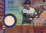 2001 Topps Gold Label MLB Award Ceremony Relics #BB1 Barry Bonds HR Bat