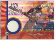 2001 Topps Gold Label MLB Award Ceremony Relics #BB2 Barry Bonds MVP Jsy