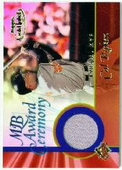 2001 Topps Gold Label MLB Award Ceremony Relics #CR2 Cal Ripken MVP Jsy